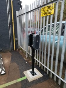 Skoda, Northampton EV Point using EV Block