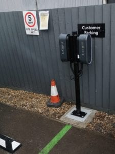 Skoda, Newbury EV Point using EV Block